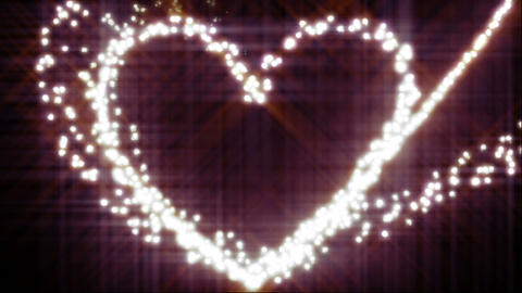 Glow Heart stock footage