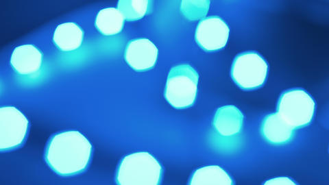 Bokeh Effect, Blurred Blue Lights 4k stock footage