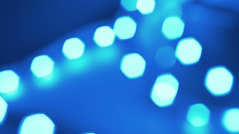 bokeh effect, blurred blue lights 4k Stock Video Footage