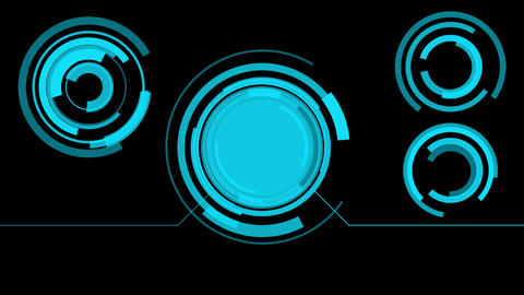 hologram interface graphics, abstract screen Stock Video Footage