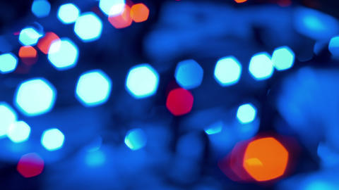 bokeh blurred lights, abstract backgrounds 4k Stock Video Footage
