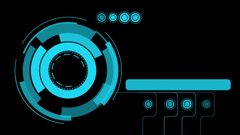 Hologram graphic interface abstract background Animation