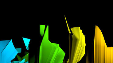 4k Dynamic abstract origami art,fold fabric material Stock Video Footage