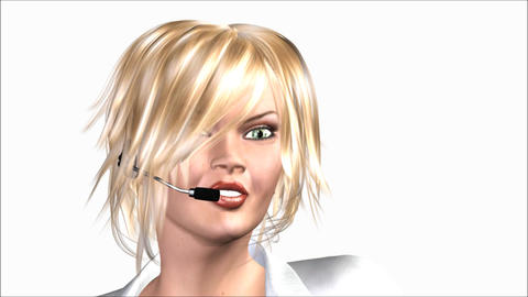 Woman with Headset Animation