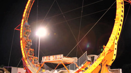 Carnival Ride - Fire Ball stock footage