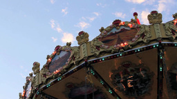 Carnival Ride Lights stock footage