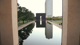 Oklahoma City National Memorial stock footage