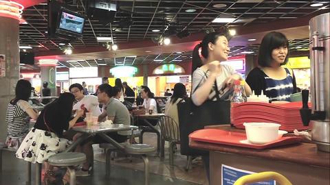 People enjoying mid day break Footage