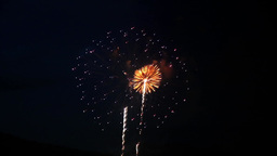 Fireworks Display stock footage