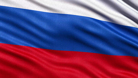 4K Flag of Russia seamless loop Ultra-HD Animation