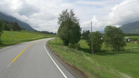 Scenic Drive, Norwegian Sea, Norway Stock Video Footage