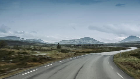 Scenic Drive, Rondane Nationalpark, Norway Footage