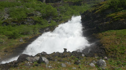 Waterfall, Norway stock footage
