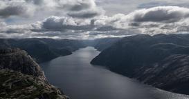 4K Timelapse, Preikestolen, Norway Stock Video Footage