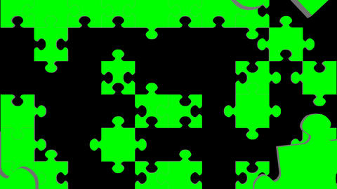 Jigsaw Puzzle Green Screen Transition stock footage