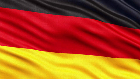 4K Flag of Germany seamless loop Ultra-HD Animation