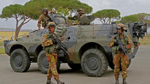 Italian Army. Military Exercise Footage