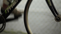 Sport Bicycle In Motion stock footage