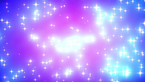 Pink Nebula Looping Glowing Stars Background 2 Stock Video Footage