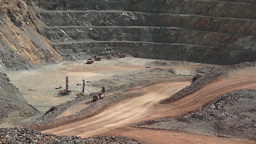 Industrial Mining Ore Pit Timelapse stock footage