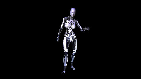Cyborg stock footage