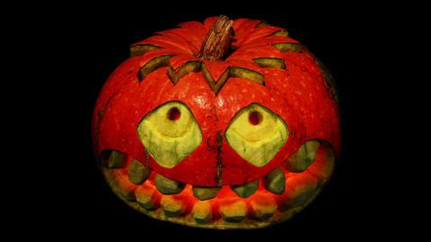 Carved Halloween pumpkin ALPHA matte, Full HD Live Action