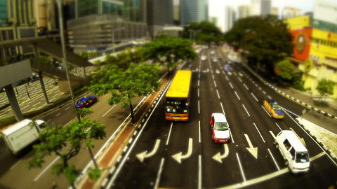 Kuala Lumpur traffic Stock Video Footage