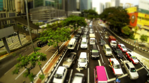 Kuala Lumpur traffic Footage