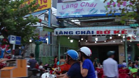 Nha Trang, Vietnam July 10, 2014: Asian City Road Footage