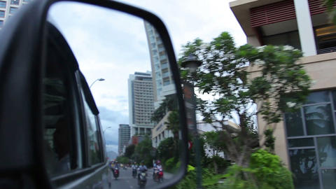 Nha Trang, Vietnam July 10, 2014: Mirror and Asian Stock Video Footage