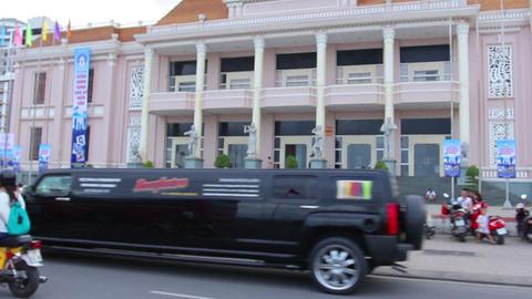 Nha Trang, Vietnam July 10, 2014: Asian roads Footage