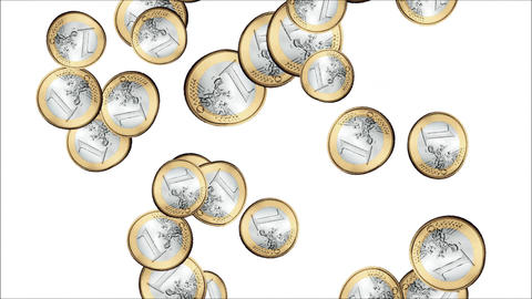 Raining Euro Coins Animation Animation