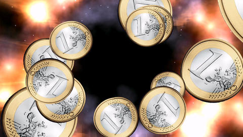 Swirling Euros Animation Animation