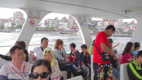 ferry boat ride to bali Stock Video Footage