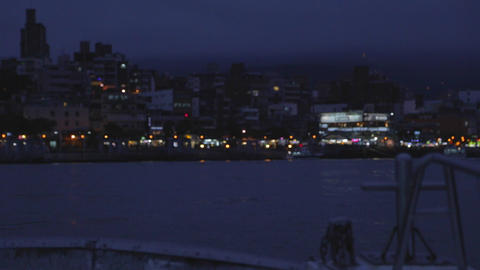 cinematic - tamsui evening from ferry Footage