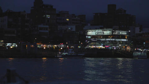 tamsui evening from ferry Footage