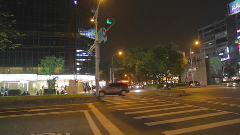 evening pan - dunhua and zhongxiao Stock Video Footage