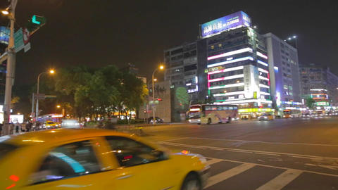 evening pan - dunhua and zhongxiao Footage