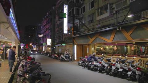 evening tea steet - dunhua district Footage