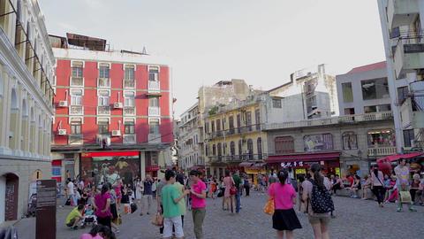 street near St Pauls - Senado square Footage