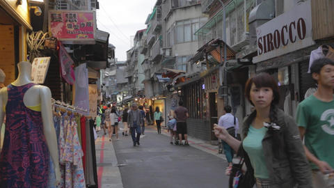 just before evening in shida night market area Stock Video Footage