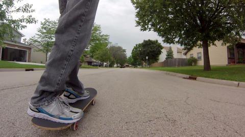 Following Skateboard on Street Footage