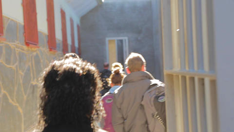 a view of the colorful houses at Bo-Kaap with a su Stock Video Footage