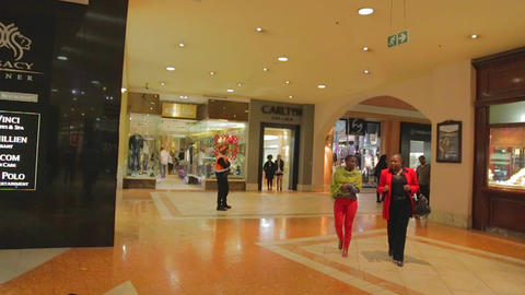 a shot inside the sandton city mall just behind th Stock Video Footage