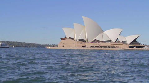 a cinematic dolly shot of the Sydney opera house 2 Footage