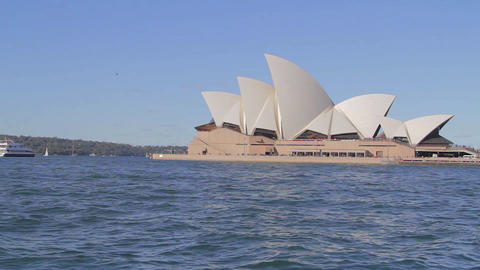 a cinematic dolly shot of the Sydney opera house 2 Stock Video Footage