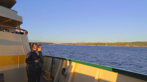 a pan from the Sydney ferry - view of the Sydney C Footage