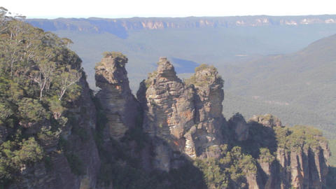 a medium shot of the 3 sisters on a sunny day Stock Video Footage