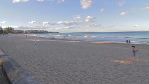 a pan of manly beach on a sunny afternoon 2 Footage