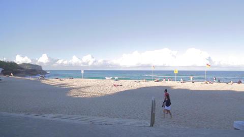 180 pan of bronte beach Footage